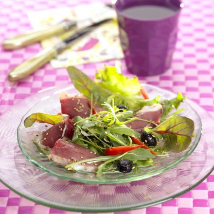 Recette de Salade folle au magret de canard
