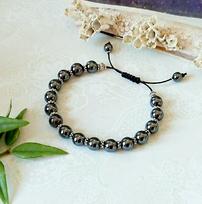 Bracelets pierres et cristal de Swarovski - amazonite, pyrite, hématite, oeil du tigre