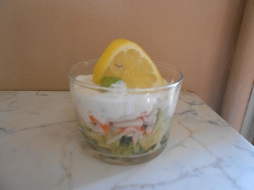 Verrine Avocats/Crabe