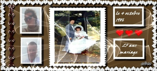 25 ans de mariage  le4 octobre1986