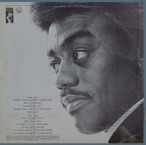 "Johnnie Taylor : Album "" Raw Blues "" Stax Records STS 2008 [ US ]"