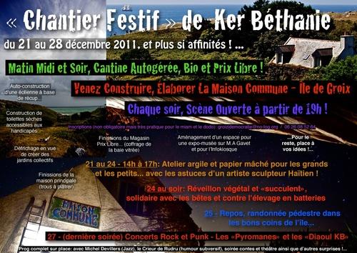 Chantier Festif de Ker Béthanie - 21 au 28 Décembre 2011