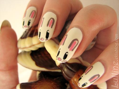 Nail Art - Lapins de pâques