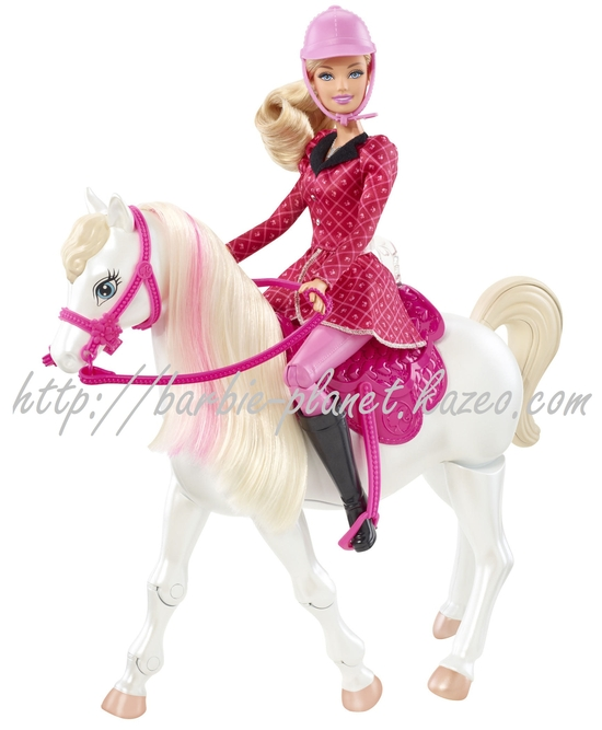 Poupée Barbie and Her Sisters in A Pony Tale entraine son cheval