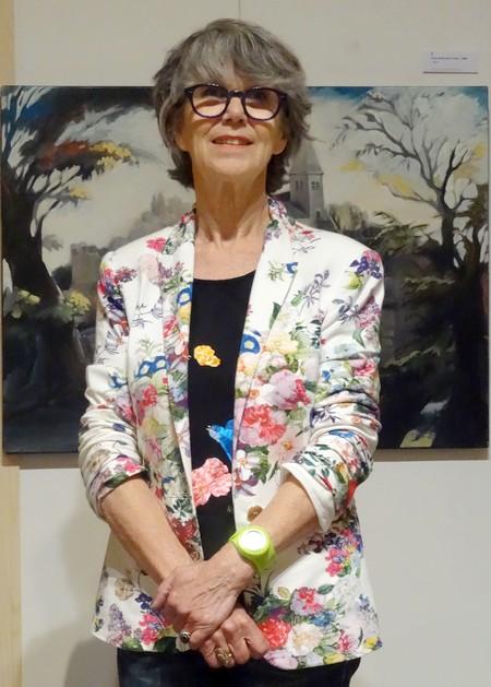 Maryvonne Jeanne-Garrault, invitée d'Honneur du 6ème salon des peintres des Amis du Châtillonnais