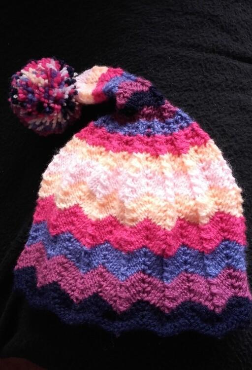 Bonnet multicolore pour Soline