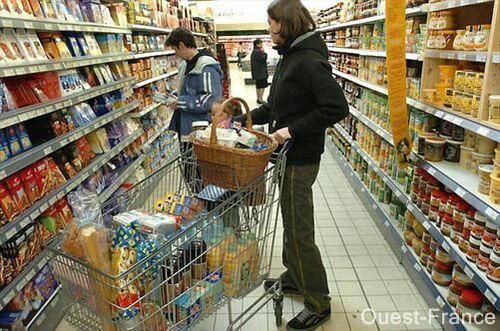 Au supermarché de Carnac