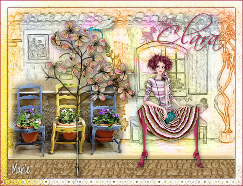"Clara  "" Exposition des travaux """