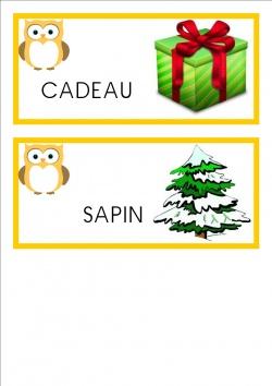 vocabulaire mots ps Noël