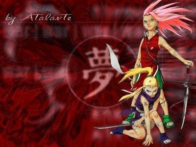 sakura, ino:les rivales