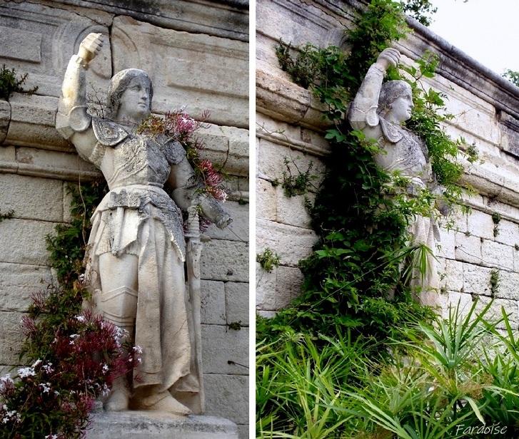 Jeanne au printemps et en été - Jardin des Doms Avignon
