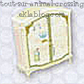 Meubles Carla - Princesse - Animal crossing WII -  Vitrine
