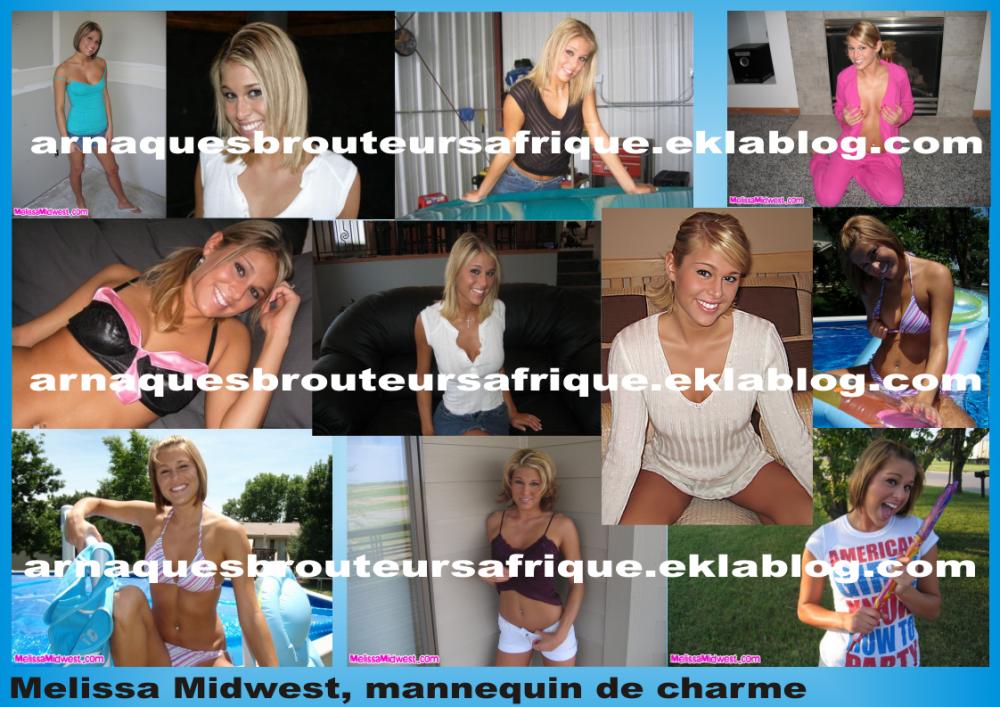 Melissa Midwest - photos volées par des brouteurs ivoiriens pour arnaquer