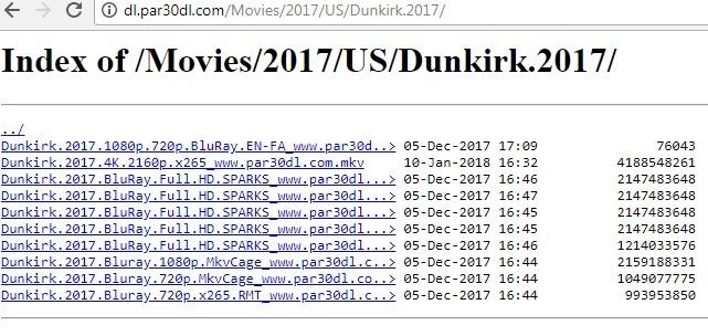 Résultat de recherche de lien directe d'un film avec Google chrome