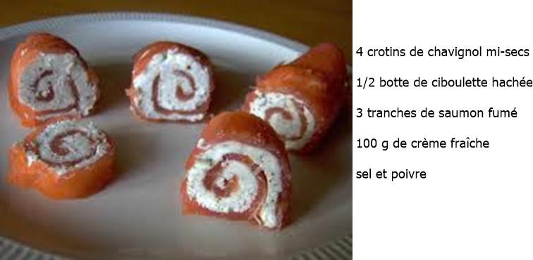 Canapés de saumon au chavignol