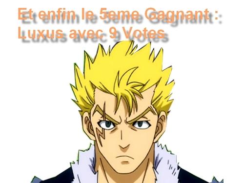 Résultats du sondage Fairy Tail