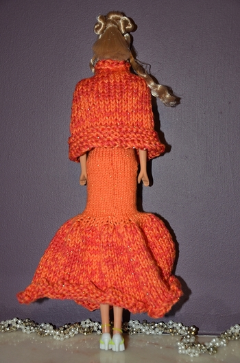 robe orange tricot par greenyy 1