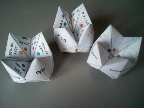 Vocabulaire en géométrie - Cocottes