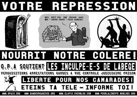 Lettre d'O.P.A aux inculpé-e-s de Toulouse (Labège)
