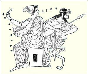 Aphrodite et Arès