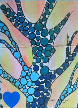 Doodle / Arbre bleu