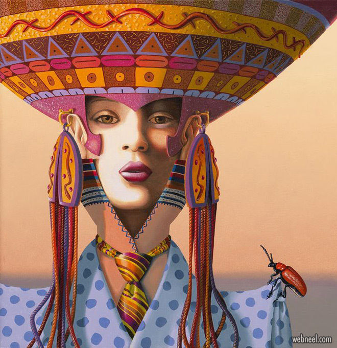 surreal painting artwork lady