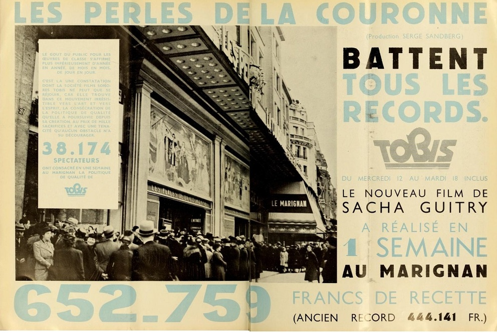 LES PERLES DE LA COURONNE BOX OFFICE 1937