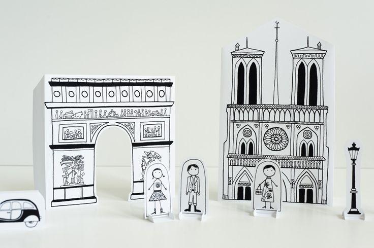 Paris... ! Maquettes en papier