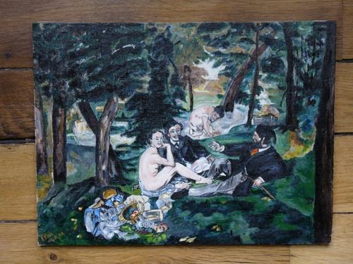 Le déjeuner sur l'herbe de E.Manet par F.Pax.