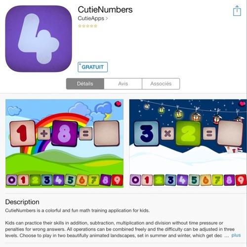 [appli gratuite] CutieNumbers
