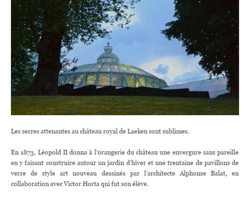 ** En BELGIQUE - LES SERRES ROYALES DE LAEKEN.**