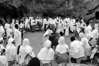 Concert improvisé à l'église Saint-Georges, Lalibela