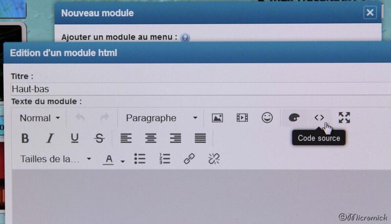 Mettez l'éditeur en mode HTML