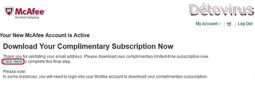 McAfee Internet Security 2012 - Licence 6 mois gratuits