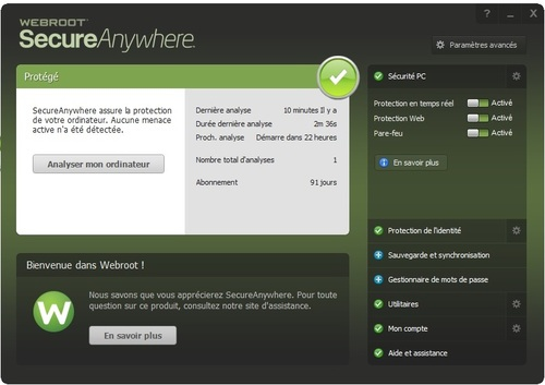 Webroot SecureAnywhere Antivirus - Licence 90 jours gratuits