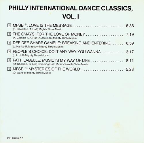 "1984 : Various Artists : Album "" Philly International Dance Classics Vol. 1 "" Philadelphia International Records PZ 39254 [ US ]"