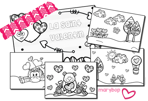 Coloriages Saint Valentin