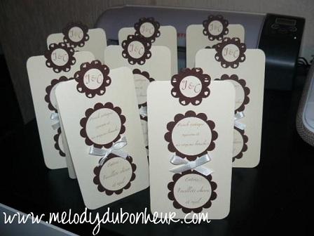 Mini menus ivoire et chocolat !