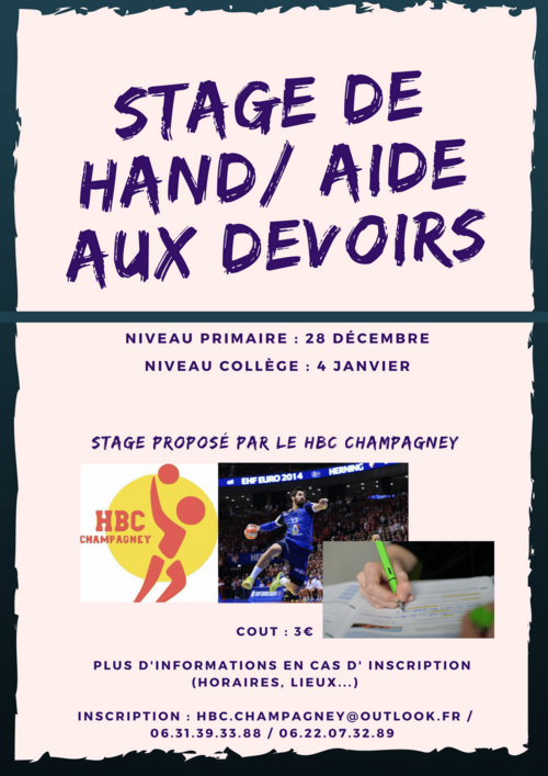 Stage Hand/Aide aux devoirs