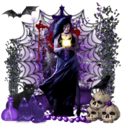 Halloween Violet Ephéméride code inclu