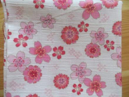 Tissu détail fleurs de cerisier