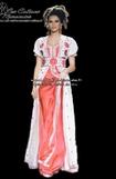 Takchita-marocaine-en rouge et blanc cassée en ligne pour mariage marocaine 2015-TAK-S925