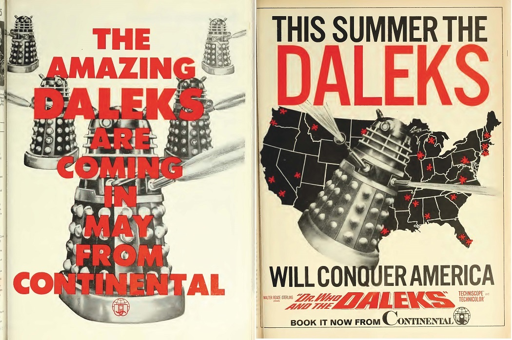 DR.WHO AND THE DALEKS box office usa 1966