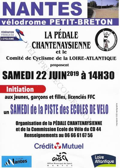 Nantes 22 juin 2019 affiche samedi piste des écoles de vélo 1
