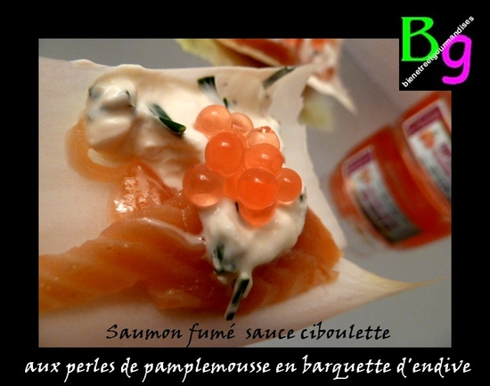 endives saumon perles pamplemousse
