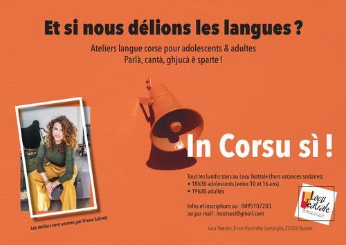 02, 09, 16, 23, 30 Mars - Atelier Langue Corse