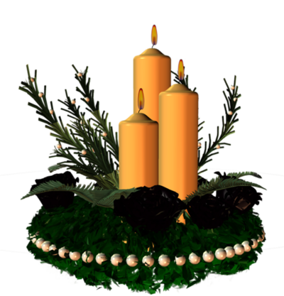 Bougies , bougeoirs de Noël / 7
