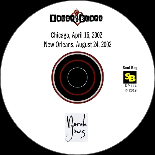 """Norah Jones : CD """" Live At The House Of Blues , Chicago April 16, 2002 & New Orleans August 24, 2002 """" SB Records DP 114 [ FR ]"""