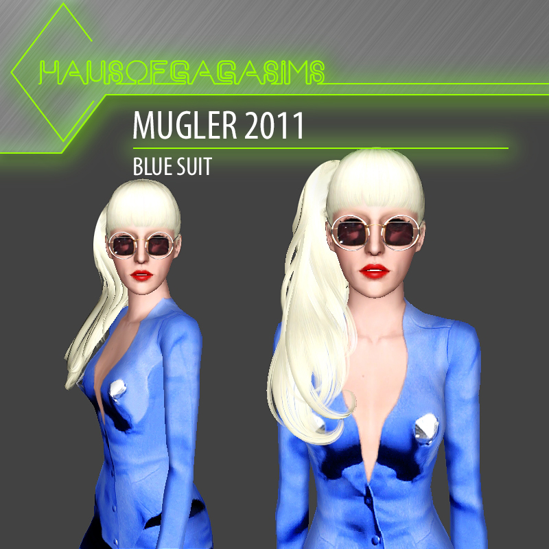 MUGLER 2011 BLUE SUIT