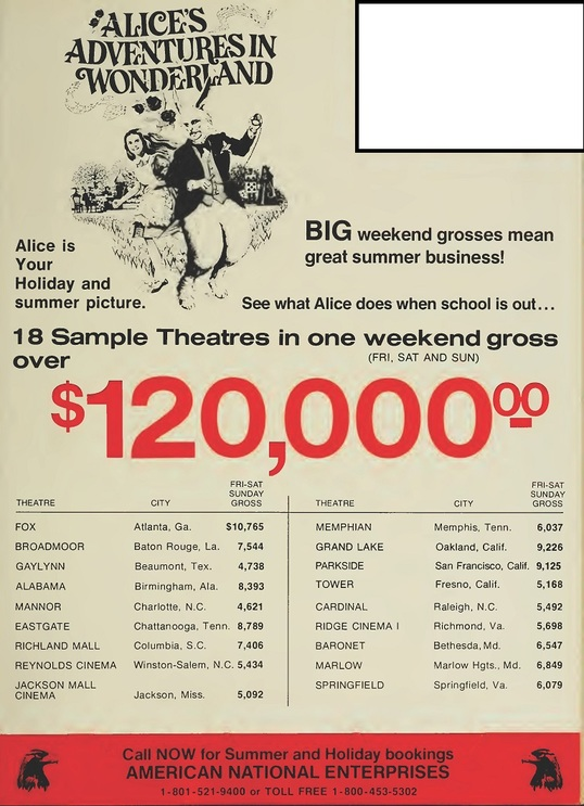 BOX OFFICE USA DU 01/03/1973 AU 07/03/1973